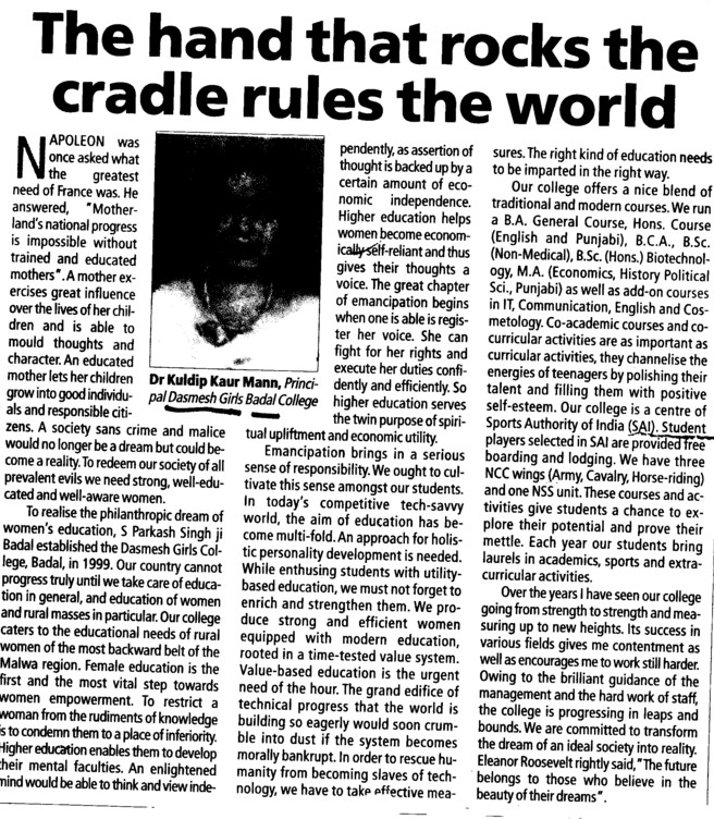 the hands that rocks the cradle rules the world essay