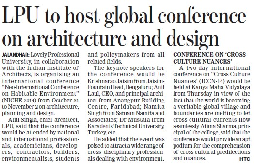 LPU to host global conference on Architecture and design (Lovely Professional University LPU)