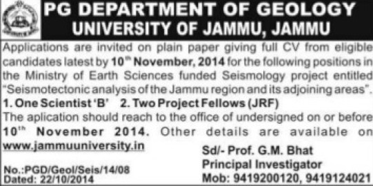 Scientist B (Jammu University)