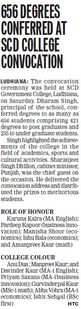 656 Degrees conferred (SCD Govt College)