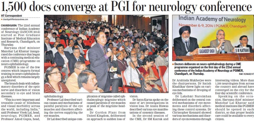 Conference at Neurology (Post-Graduate Institute of Medical Education and Research (PGIMER))