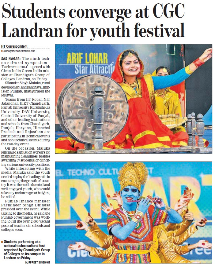 Students converge at Youth Fest (Chandigarh Group of Colleges)