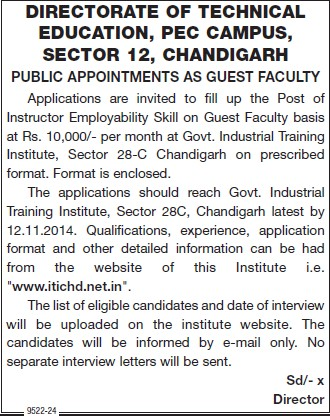 Instructor Employability Skill (Directorate of Technical Education and Industrial Training Punjab)