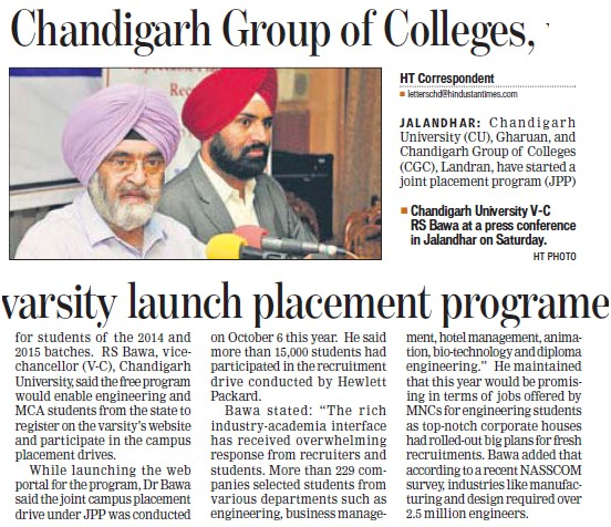 College lauch Placement Programme (Chandigarh Group of Colleges)