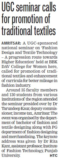 UGC seminar calls for promotion of traditional textiles (University Grants Commission (UGC))