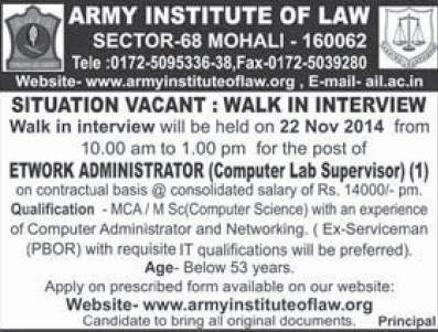 Computer Lab Instructor (Army Institute of Law)