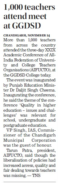 1000 teachers attend meet (GGDSD College)