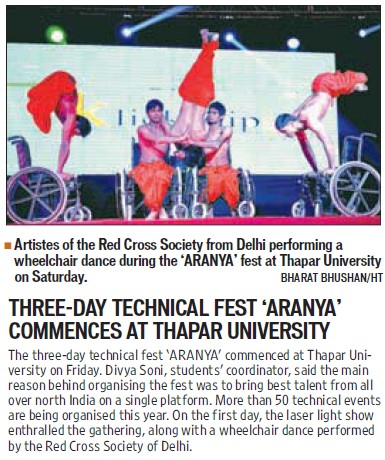 Technical Fest held (Thapar Institute of Engineering and Technology University)