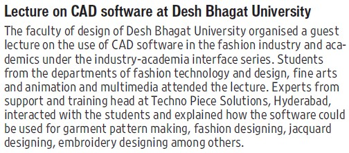 Lecture on CAD Software (Desh Bhagat University)