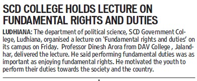 Lecture on fundamental rights (SCD Govt College)