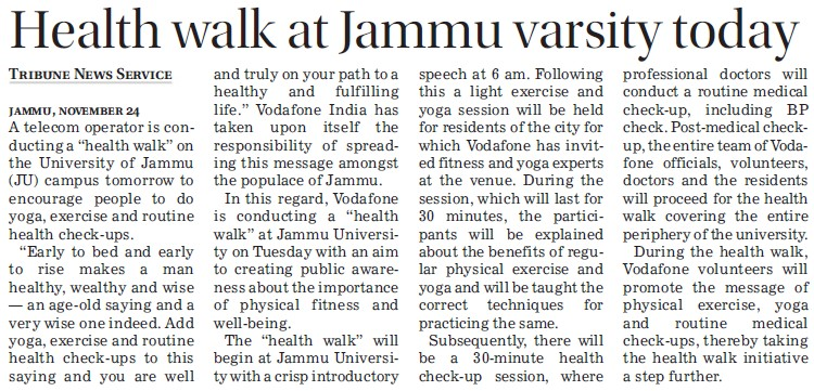 Health walk at Jammu University today (Jammu University)