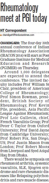 Rheumatology meet at PGI (Post-Graduate Institute of Medical Education and Research (PGIMER))