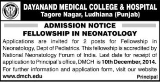 Fellowship in Nanotology (Dayanand Medical College and Hospital DMC)