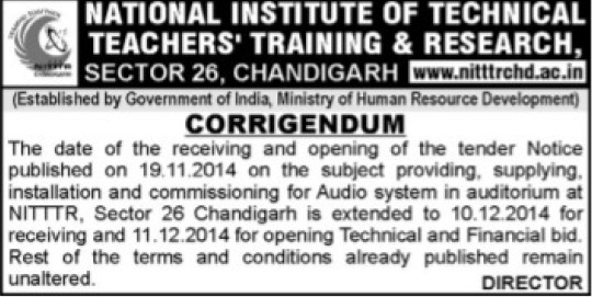 Commissioning of Audio system (NITTTR)