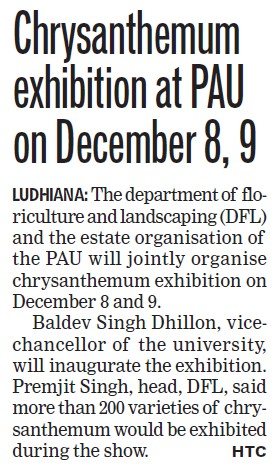 Chrysanthemum exhibition at PAU (Punjab Agricultural University PAU)
