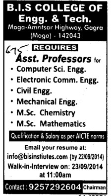 Asstt Professor in ME and CSE (BIS College of Engineering and Technolngy Gagra)