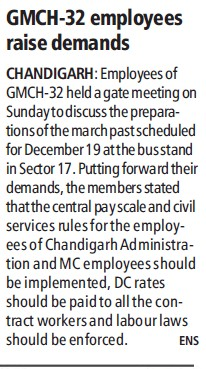 GMCH employees raise demands (Government Medical College and Hospital (Sector 32))