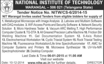 Supply of Micro Hardness Tester (National Institute of Technology NIT)