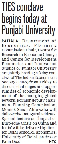 TIES conclave begins today at University (Punjabi University)