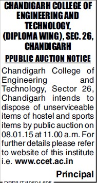 Supply of Sports items (Chandigarh College of Engineering and Technology (CCET))