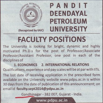 Asstt Professor for International Relations (Sri Guru Granth Sahib World University)