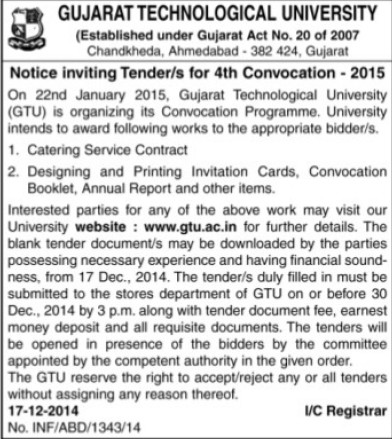 4th Convocation 2015 (Gujarat Technological University)