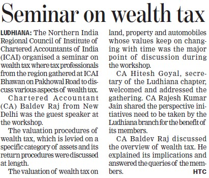 Seminar on wealth tax (Institute of Chartered Accountants of India (ICAI))