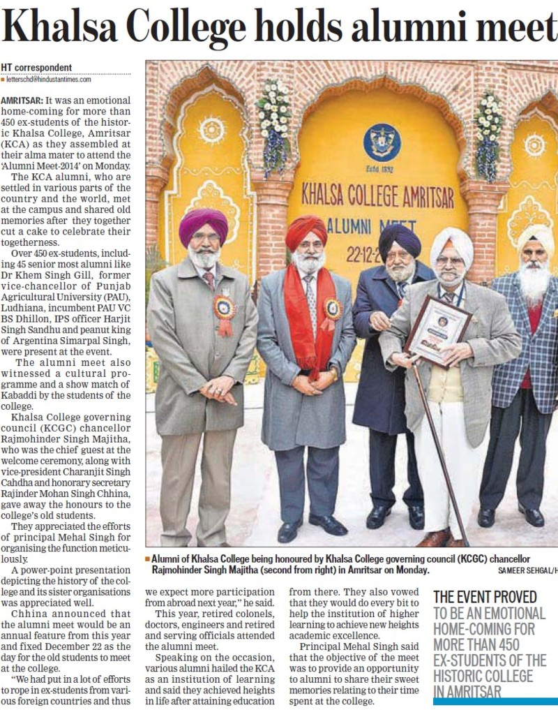 Khalsa College holds alumni meet (Khalsa College)