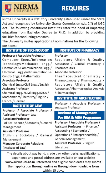 Asstt Professor for Sociology and Management (Nirma University)