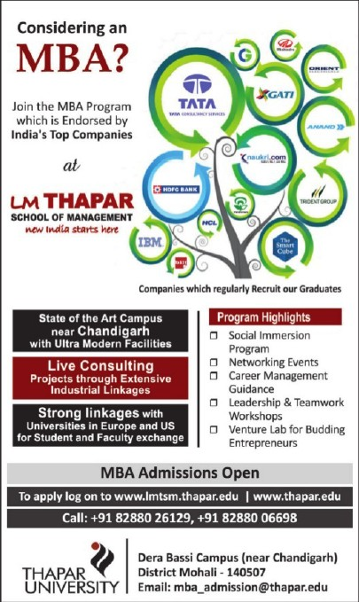 MBA Program (Thapar Institute of Engineering and Technology University)