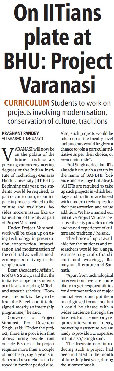 On IITians plate at BHU, Project Varanasi (Banaras Hindu University)