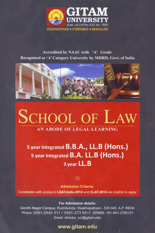 BBA and LLB course (GITAM University)