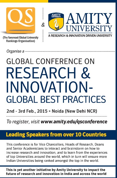 Global Conference on Research and Innovation (Amity University)