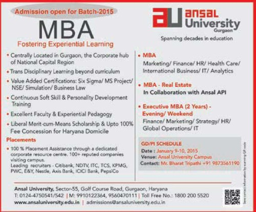 MBA Program (Ansal University)
