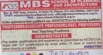 MBBS Programme (MBS School of Planning and Architecture)