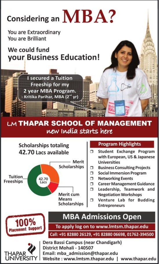 MBA Programme (Thapar Institute of Engineering and Technology University)