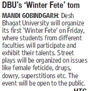 DBUs winter fete tom (Desh Bhagat University)