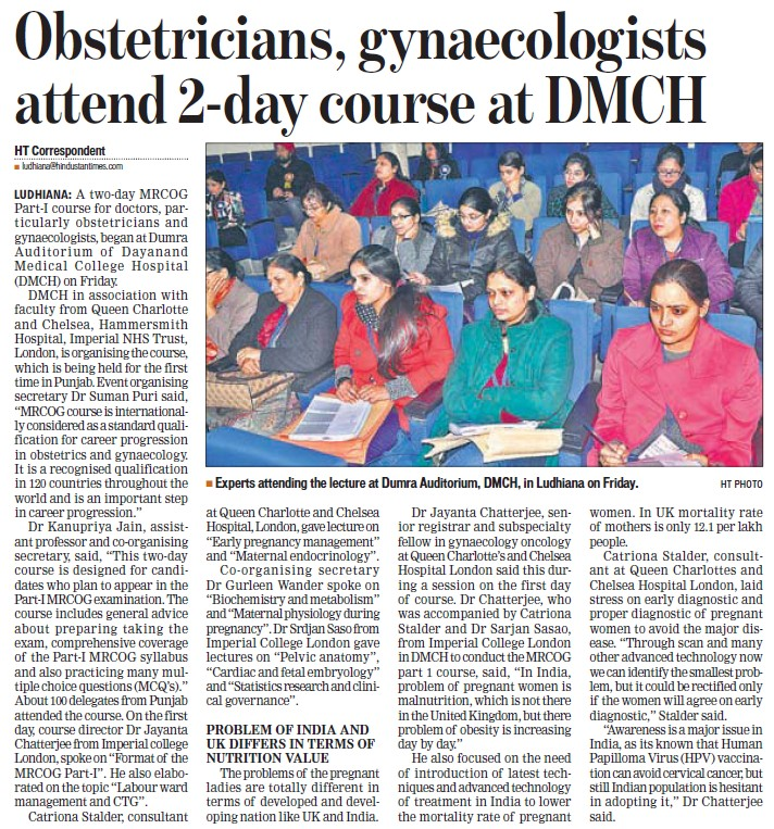 Obsteticians, gynaecologists attend 2 day course (Dayanand Medical College and Hospital DMC)