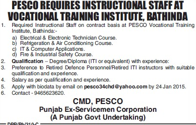 Refrigeration and AC course (PESCO Vocational Training Institute)