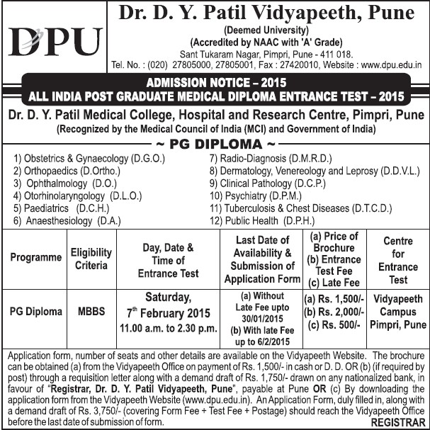 PG Diploma in Obstetrics (Dr DY Patil University)