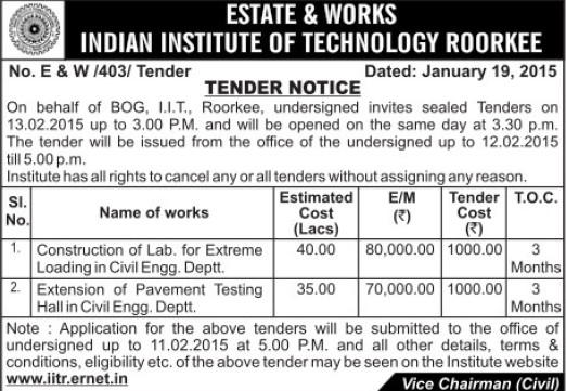 Construction of Lab for extreme loading (Indian Institute of Technology (IITR))