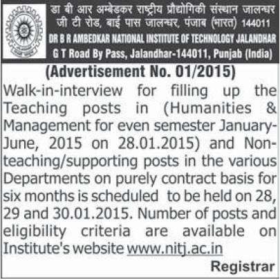 Faculty for Humanities and Management (Dr BR Ambedkar National Institute of Technology (NIT))