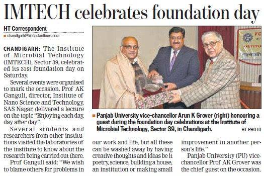 IMTECH celebrates foundation day (Institute of Microbial Technology (IMTECH))