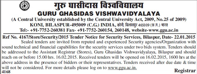 Security Services (Guru Ghasidas University)