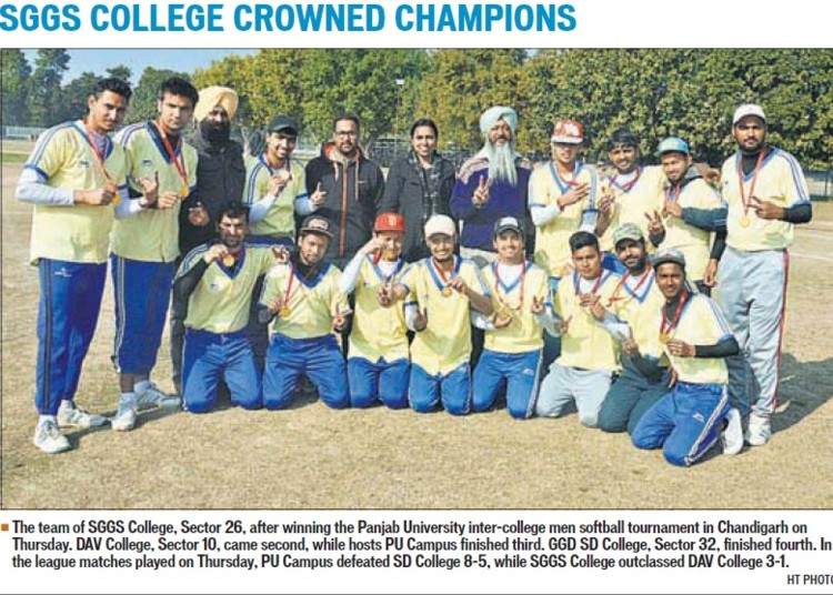 SGGS College crowned championship (SGGS Khalsa College Sector 26)