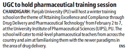 UGC to nod pharmaceutical training session (University Grants Commission (UGC))
