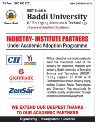 Academic Adoption Programme (Baddi University of Emerging Sciences and Technologies)