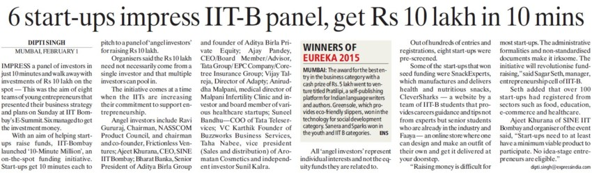 IITB, gets Rs10 lakh in 10 mins (Indian Institute of Technology (IITB))