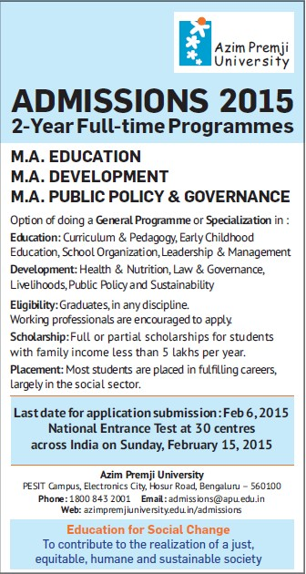 MA in Public Policy (Azim Premji University)