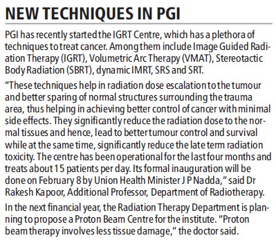 New techniques in PGI (Post-Graduate Institute of Medical Education and Research (PGIMER))